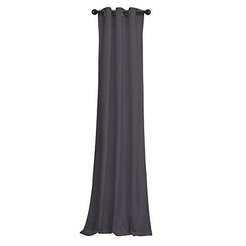 BRIGHTLINEN Vintage 100% Velvet 50 by 144 inches Thick Blackout Elegant Ring Top Eyelet Velvet Curtains Lavender