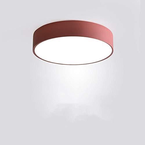 Plafoniera LED, lampada da soffitto o parete per bagno,Plafoniera da bagno a LED per balcone, rosso, 23 cm, 12 W.