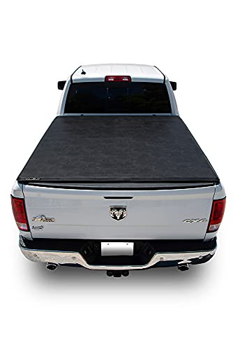 LEER ROLLITUP   Fits 2019+ Ram with 6.4' Bed w/o Rambox   Soft Roll Up Truck Bed Tonneau Cover   4R299   Low-Profile, Sturdy, Easy 15-Minute Install (Black)
