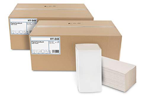 Hypafol Papierhandtücher für Spender | Recycling, 1-lagig, 25 x 23 cm | 10.000 Blatt | ZZ-Falz geeignet für Handtuchspender in Toiletten, Büros, Praxen und Studios