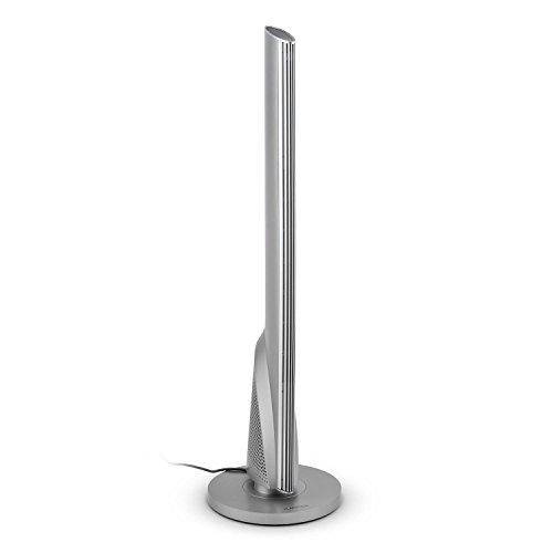 Klarstein Skyscraper Heat - Calefactor de Torre, termoventilador, oscilación, 1600 ó 2500 W, Temperatura Ajustable gradualmente, Temporizador, Control Remoto, Plata