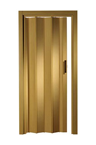 Kunststoff - Falttür eiche hell ohne Fenster 88,5x202 cm doppelwandig