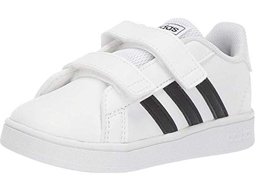 adidas Baby Grand Court Sneaker, Black/White, 4K M US Toddler