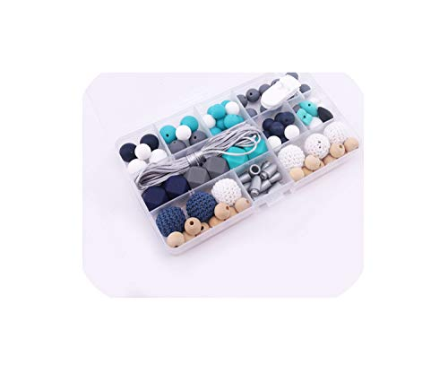 Review Baby Unfinished Silicone Hex Beads Set Wooden Beads DIY Necklace Accessories,as Show