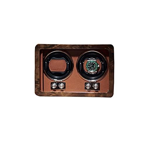 WBJLG Devanadera de Reloj automática Caja de Reloj giratoria Devanadera de Reloj de 2 Ranuras Almacenamiento Bobinadoras mecánicas Regalo de Lujo