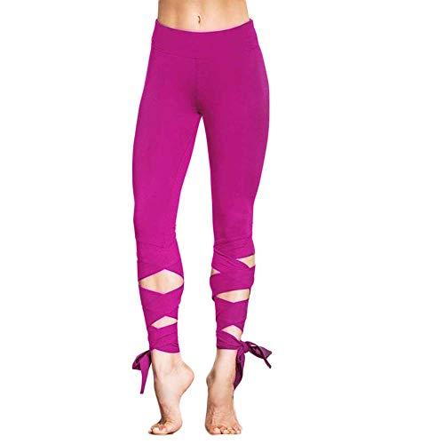 FIYOMET Wickelhose Yogahosen Fitnesshose Tanz Ballett Strapsgamaschen Übung Outfit Yoga Fitness Sport