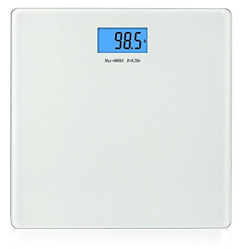 BalanceFrom Digital Body Weight Bathroom Scale with Step-On Technology and Backlight Display, 400 Pounds, Regular, White