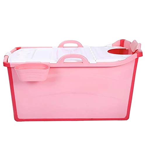ASIER mobiele badkuip, antislip, voor baby's, badkuip, antislip, voor volwassenen, roze, 50 x 91 x 44 cm