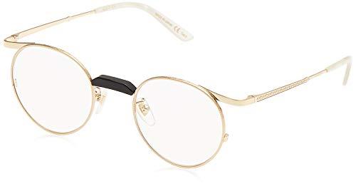 Gucci GG0238S 001 Gafas de sol, Dorado (1/Transparent), 47 para Hombre