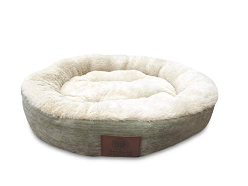 American Kennel Club AKC 3158- Green AKC Casablanca Round Solid Pet Bed, Green