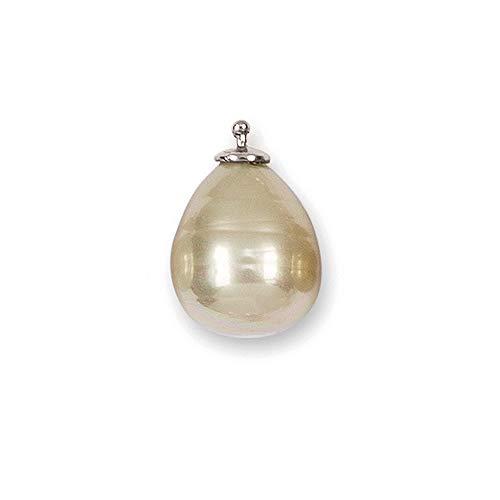 HEIDE HEINZENDORFF Einhängerpaar Barocktropfen Perle, Puder Medium, Gold