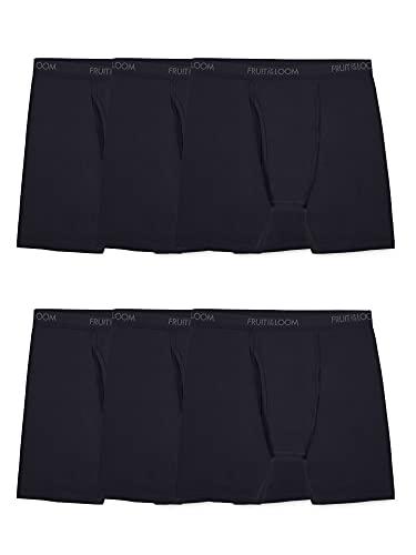 Fruit of the Loom Herren and Tall Tag-Free Underwear & Undershirts Retroshorts, Big Man – Baumwoll-Stretch-Boxershorts, Schwarz, 6 Stück, XXX-Large