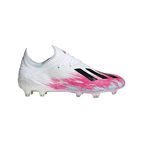 adidas X 19.1 Firm Ground, Zapatillas de fútbol para Hombre, Ftwwht Cblack Shopnk, 42 EU