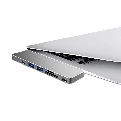 popchilli WS-UHP3405M Type C USB-hub met Power Transfer voor opladen, 4K HDMI-uitgang en vier USB 3.0-poorten voor WAVLINK, handig voor uw werk en leven