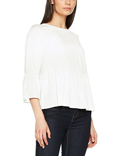 Mavi Damen Long Sleeve Blouse Bluse, Weiß (Antique White Solid 25744), Small