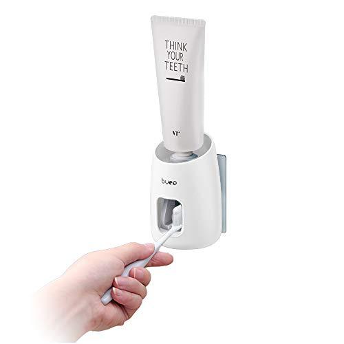 Andiker Dispenser di Dentifricio Automatico per Bambini e Adulti, Dispenser di Dentifricio con Le Mani libere, Dispenser di Dentifricio a Parete, Facile da Installare (Bianco)
