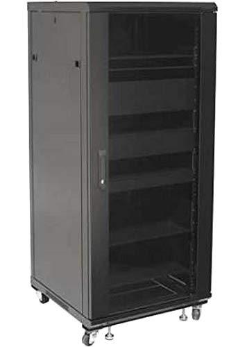 Techly Professional 026548 Armadio Rack 19' 600x600 27U per Audio Video Nero Nero
