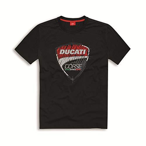 Ducati T-Shirt original Herren 98769503 Kurzarm Shirt Corse Sketch schwarz (M)