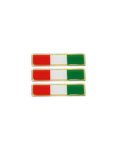 4R Quattroerre.it 483 3D Aufkleber Flagge Italien Tris