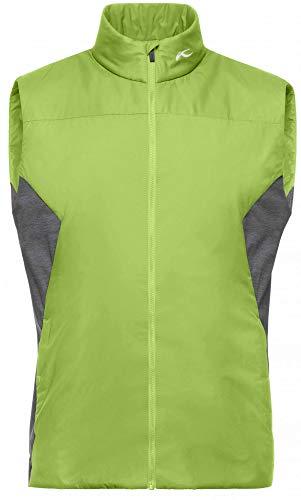 KJUS Men Radiation Vest Grün, Herren Weste, Größe 52 - Farbe Green Glow - Steel Grey Melange