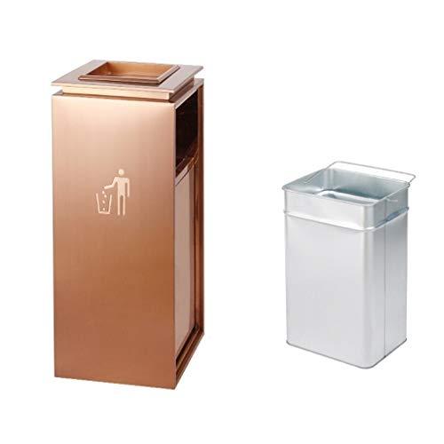 KGDC Mülltonnen/Papierkörbe Platz Asche und Trash Trash Can, Schwarz Hotel Trash Can Lobby Hotel Mall Vertikal Aschenbecher Abfalleimer Mobile Mülleimer