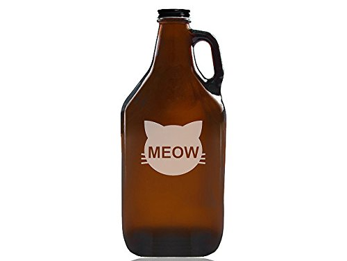 """Chloe and Madison""""Cats Meow"""" Beer Amber Growler"""