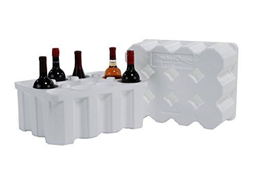 12 Bottle Styrofoam Wine Shipper with cardboard shipping box