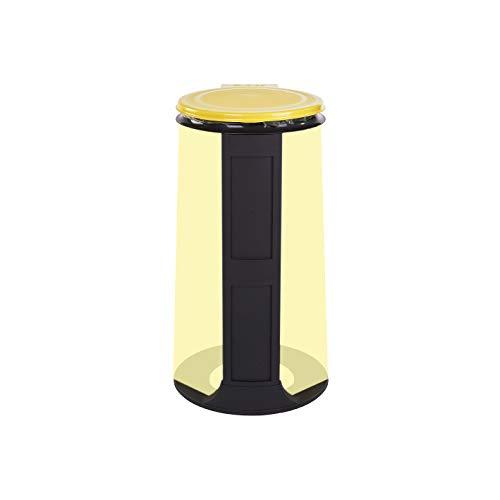Gies Ecoline Müllsackständer Gelb 120 Liter stabil für alle Müllsäcke Blaue Säcke Sackhalter - Blauer Engel - Made in Germany