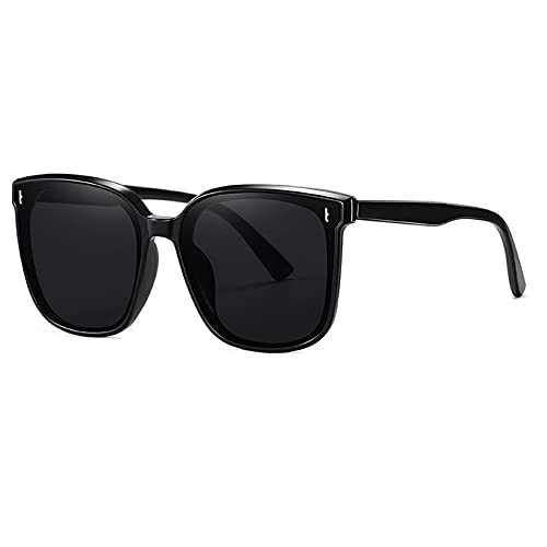 Hanone Gafas de Sol cuadradas de Gran tamaño con protección UV 400, Gafas de Sol Vintage para Mujer, Gafas de Sol no polarizadas