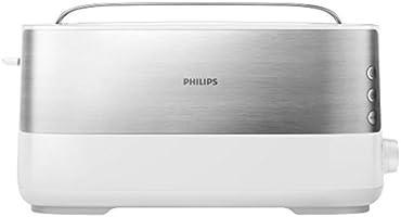 Philips Broodrooster - 8 bruiningsinstellingen - Uitneembare kruimellade - Ingebouwde opzethouder voor broodjes -...