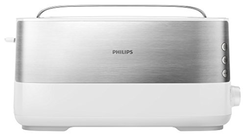 Philips Viva Collection HD2692/00 1slice(s) 1030W Metálico, Color blanco - Tostador (1 rebanada(s), Metálico, Blanco, Metal, De plástico, Botones, Giratorio, 0,85 m, China)