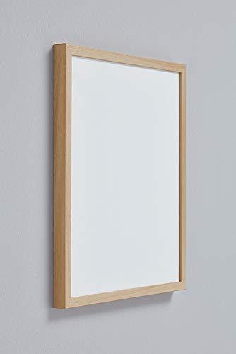 Malena MULTIFIT Bilderrahmen 50x70 cm in Buche mit extra stabilem Antireflex-Acrylglas 2mm mit weißer Rückwand ideal für Bilder Fotos Poster Puzzle