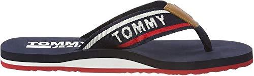 Hilfiger Denim Herren Jeans Mens Beach Sandal Zehentrenner, Blau (Tommy Navy 406), 43 EU