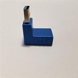كابلات وموصلات الكمبيوتر - كابل ووصلة USB بزاوية 90 درجة لأعلى أسفل الجانب الأيمن من النوع A ذكر إلى أنثى موصل محول وصلة ج...