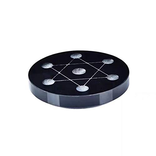 ZHANGDA Natürliche Kristallkugel Kugel Stehen Obsidian Dipper Array Kristall Nishing Artikel Basis, Ca. 80Mm