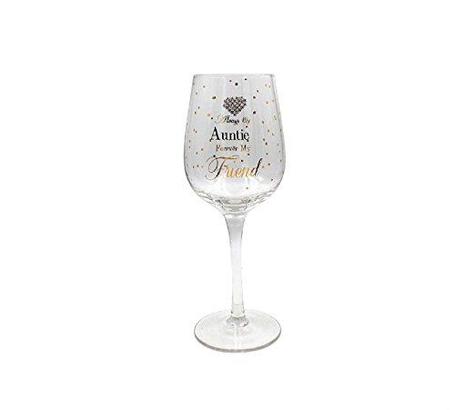 Lesser & Pavey Mad Dots Auntie - Copa de vino, 7,5 x 7,5 x 22 cm, color dorado