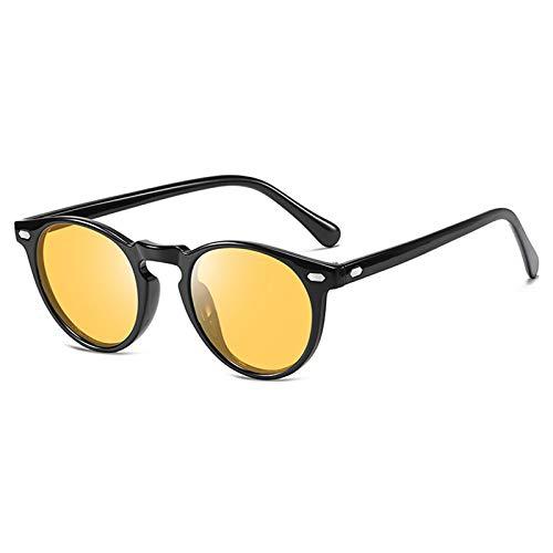 AKRAY Nachtfahrbrille auto Polarisiert Damen Nachtsichtbrille Autofahren Gelb getöntes HD-Sichtglas Fahrbrille A576 (Schwarz)