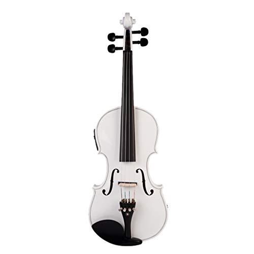 HomeDecTime 4/4 Elektrische Geige Violine, mit Koffer, Bow, Kolophonium, Kopfhörer usw, Geschenk für Anfänger Studenten Musikliebhaber