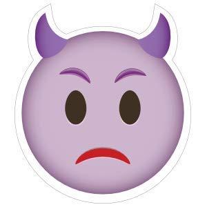 Phone Emoji Cute Devil Upset - Pack of 4 - StickerVinyl Waterproof Sticker Decal Car Laptop Wall Window Bumper Sticker