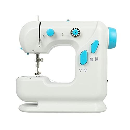 AMDHZ Sewing Machine, máquina de Coser Ligera Máquina de Coser for Principiantes, incorporada for el hogar 6 V (Color : White, Size : 22X21X17CM)