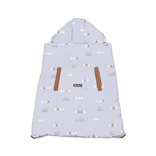 SONARIN Universal All Seasons Cover Manta para portabebés,Cobertor para portabebés,Prueba de viento, Impermeable,Forro desmontable para el invierno cálido(Gris Claro)