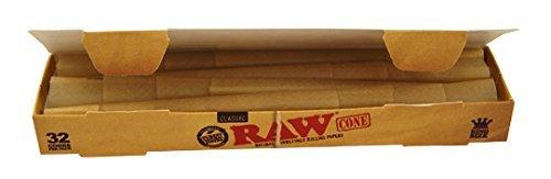 Raw 64x konische Hülsen ungebleicht (2x32) Jointhülsen Joint Cones pre-rolled