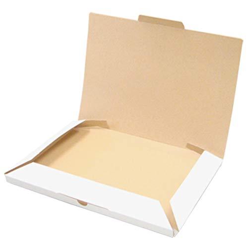 小型宅配箱【白】【A4ワイド】 業務用 200個セット (N式 ダンボール箱 段ボール箱 梱包 ダンボール 組み立て式 組立式 折りたたみ式 折り畳み式)
