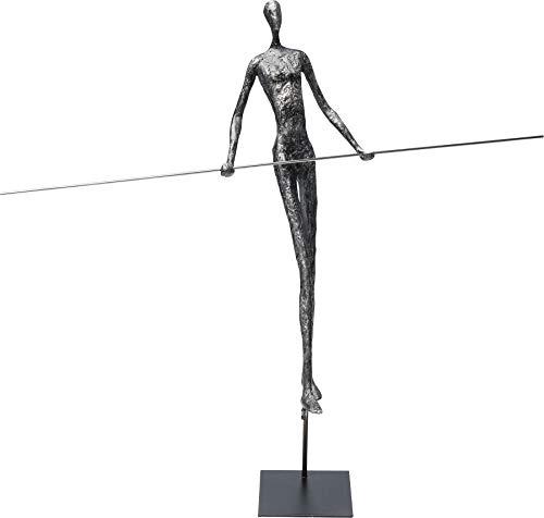 Kare Design Deko Objekt Trapez Star 54cm, Accessoire mit Sockel in Beton Optik, Athletische Figur am Trapez, verschiedene Ausführungen erhältlich, (H/B/T) 54x50x15cm