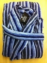 Cotton Trend para Hombre de Forro Polar Albornoz, Azul de