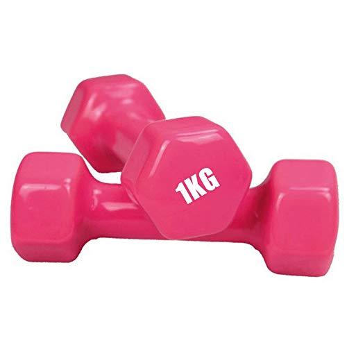 PPuujia Fitness Equipment - Mancuernas hexagonales para mujer, pérdida de peso, adelgazar y adelgazar cintura delgada (color: rosa)