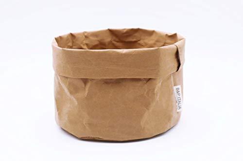 B&P Italia bolsa panera Stockholm fibra de celulosa avana, diámetro 19 x 12 cm