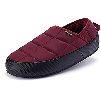 BRONAX Moccasin Slippers for Men | Collapsible-back Fur Lined Warm Indoor House Shoes | Supportive Outdoor Loafers