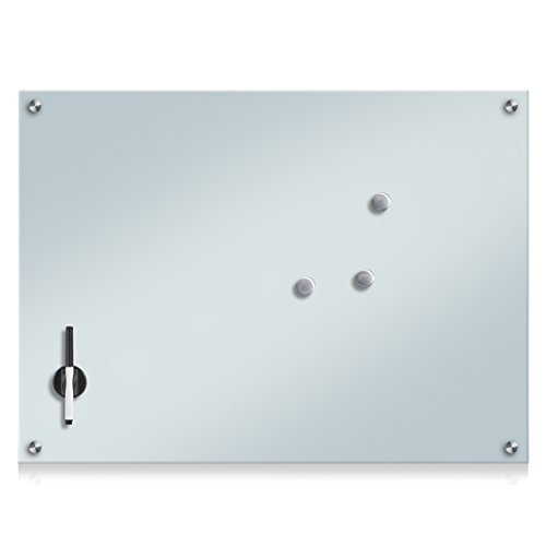 Zeller 11685 Memobord, Glas, weiß, ca. 75 x 55 x 2 cm