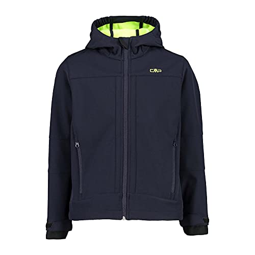 CMP Jungen Softshell Jacket with ClimaProtect WP 7,000 Technology Shell Jacke, B.Blue-Yellow Fluo, 164